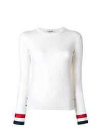 Женский белый свитер с круглым вырезом от Thom Browne