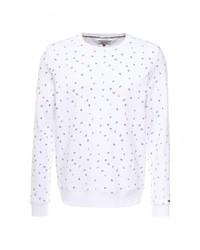 Мужской белый свитер с круглым вырезом от Tommy Hilfiger Denim