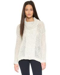 Женский белый свитер с хомутом от BB Dakota