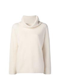 Женский белый свитер с хомутом от Max Mara