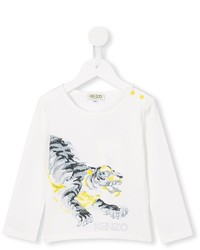 Детский белый свитер для девочке от Kenzo