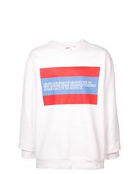 Мужской белый свитшот с принтом от Calvin Klein Jeans Est. 1978