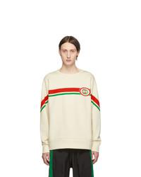 Мужской белый свитшот с принтом от Gucci