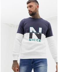 Мужской белый свитшот с принтом от Nicce London