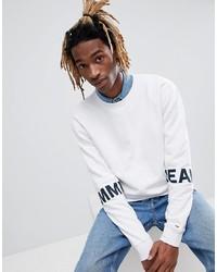 Мужской белый свитшот с принтом от Tommy Jeans