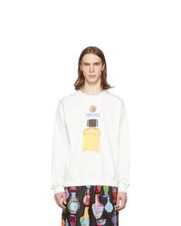 Мужской белый свитшот с принтом от Versace