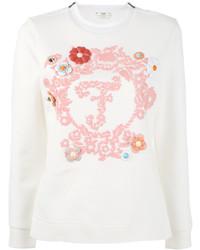 Женский белый свитшот от Fendi