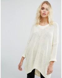 Женский белый свободный свитер от Noisy May