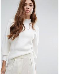 Женский белый свободный свитер от Selected