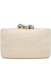 Белый соломенный клатч от Kayu