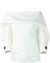 Белый топ с открытыми плечами от Marni