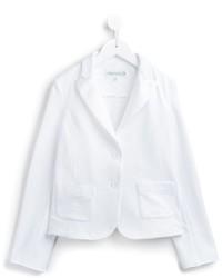 Детский белый хлопковый пиджак для девочке от Simonetta