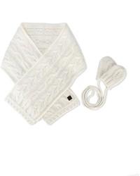 Детский белый шарф для девочке от Tartine et Chocolat