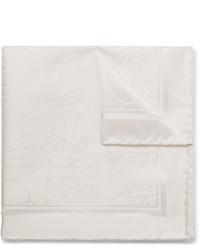 Белый шелковый нагрудный платок от Berluti
