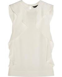 Белый шелковый топ без рукавов от Marc by Marc Jacobs