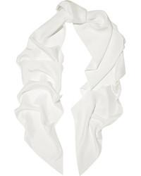 Женский белый шелковый шарф от Lanvin