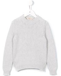 Детский белый шерстяной свитер для девочке