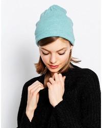 Женская бирюзовая вязаная шапка от Hat Attack