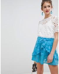 Бирюзовая короткая юбка-солнце от ASOS DESIGN