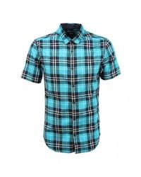 Мужская бирюзовая рубашка с коротким рукавом от s.Oliver Denim