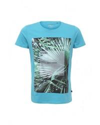 Мужская бирюзовая футболка с круглым вырезом от s.Oliver Denim