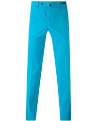Бирюзовые брюки чинос
