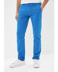 Бирюзовые брюки чинос от BOSS HUGO BOSS