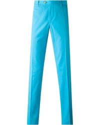 Бирюзовые брюки чинос от Etro