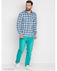 Бирюзовые брюки чинос от Mezaguz