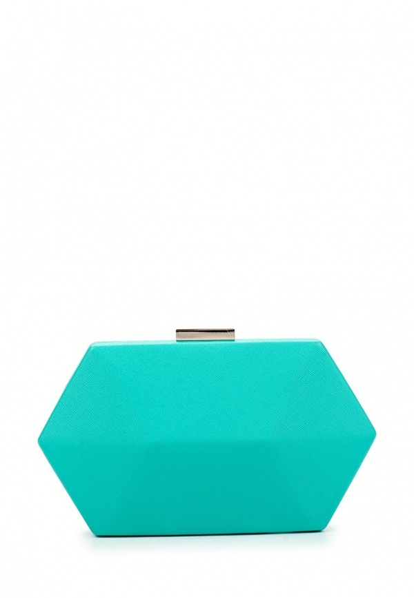 ce552fd5a72d Бирюзовый кожаный клатч от Olga Berg, 2 960 руб.   Lamoda   Лукастик