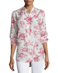 Блузка с длинным рукавом с цветочным принтом