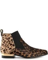 Ботинки с леопардовым принтом