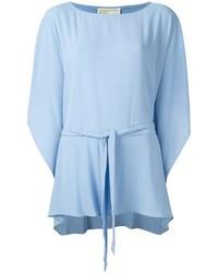 Голубая блузка с длинным рукавом с рюшами от MICHAEL Michael Kors