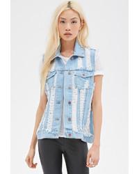 Женская голубая джинсовая безрукавка от Forever 21