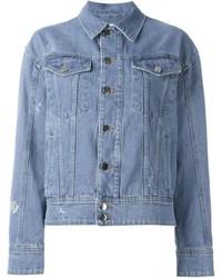 Женская голубая джинсовая куртка с украшением от Filles a papa
