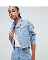 Женская голубая джинсовая куртка с украшением от Liquor N Poker