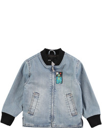Голубая джинсовая куртка