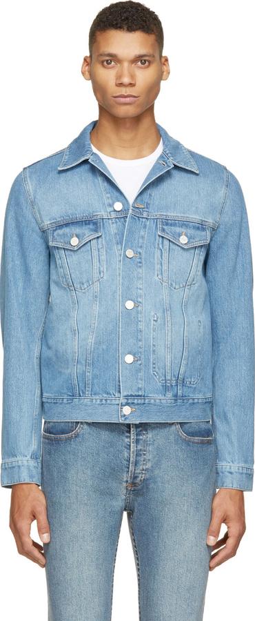 2a190489f2f ... Мужская голубая джинсовая куртка от Acne Studios