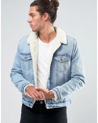 Мужская голубая джинсовая куртка от Asos