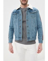 Мужская голубая джинсовая куртка от Brave Soul