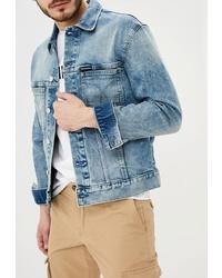 Мужская голубая джинсовая куртка от Calvin Klein Jeans