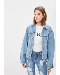 Женская голубая джинсовая куртка от Forte Dei Marmi Couture