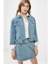 Женская голубая джинсовая куртка от Glamorous