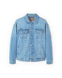 Мужская голубая джинсовая куртка от Mango Man