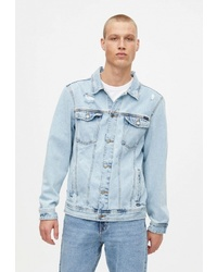 Мужская голубая джинсовая куртка от Pull&Bear