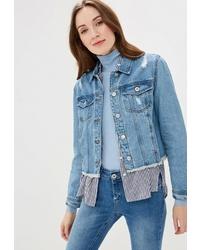 Женская голубая джинсовая куртка от Rinascimento