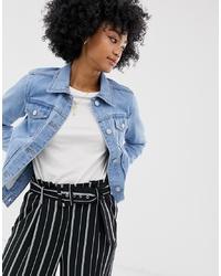 Женская голубая джинсовая куртка от Warehouse