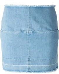Голубая джинсовая мини-юбка от ARIES