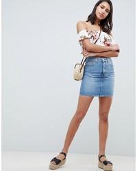 Голубая джинсовая мини-юбка от ASOS DESIGN