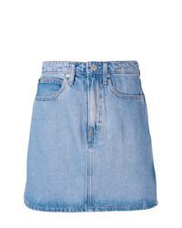Голубая джинсовая мини-юбка от Calvin Klein Jeans